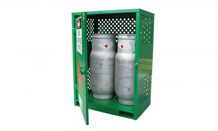 2 Cylinder Heavy Duty LPG Gas Store with Forklift Pockets