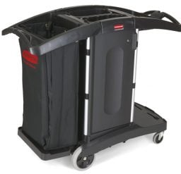 Compact Folding Housekeeping Cart with Bag