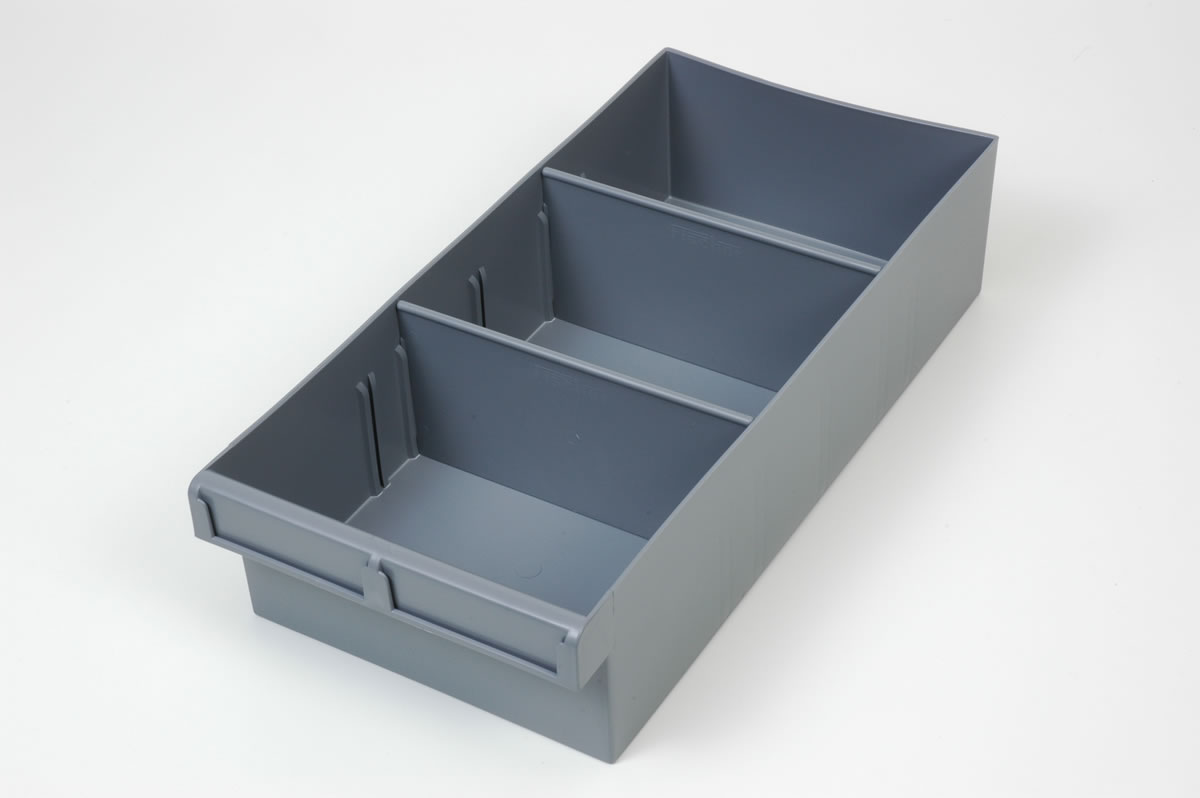 Stor bay with both sizes of small parts trays parts for Storage bay