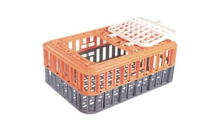 live bird crate with hatch