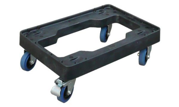 Plastic Fish Crate Skate with Stainless Steel Castors | plastic fish crate skate with stainless steel castors