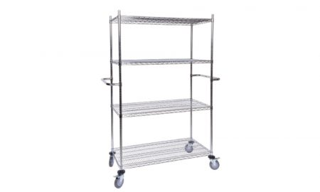 Surgispan | chrome storage shelves