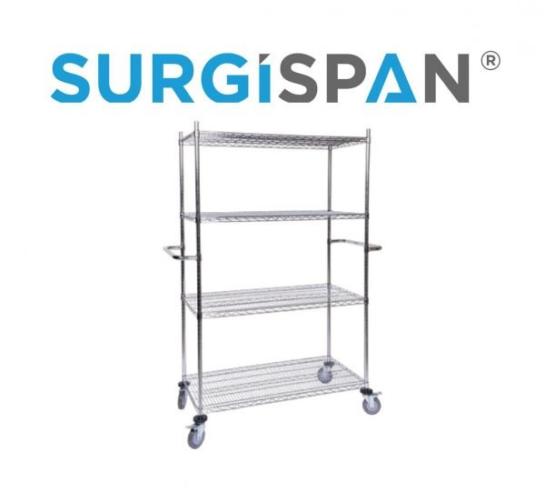 Chrome-Wire Shelving Mobile Bay | chrome-wire shelving mobile bay