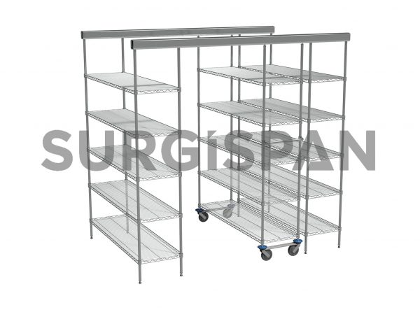 Inline SURGISPAN Chrome Wire Shelving |