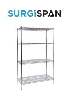 Surgispan | chrome storage shelves