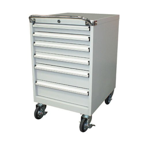 6 Drawer Mobile Tool Cabinet – 565 mm Wide | industrial tool cabinet workstation