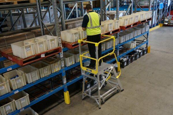 deluxe order picking ladder
