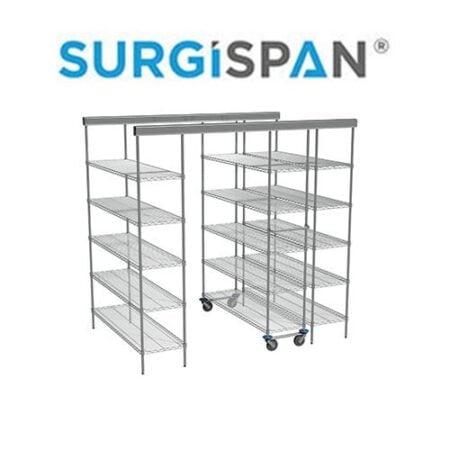 Inline SURGISPAN® Chrome Shelving Unit