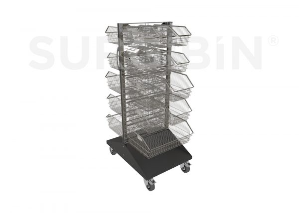 SURGIBIN<sup>®</sup> WIRE PANEL TROLLEY COMPLETE |